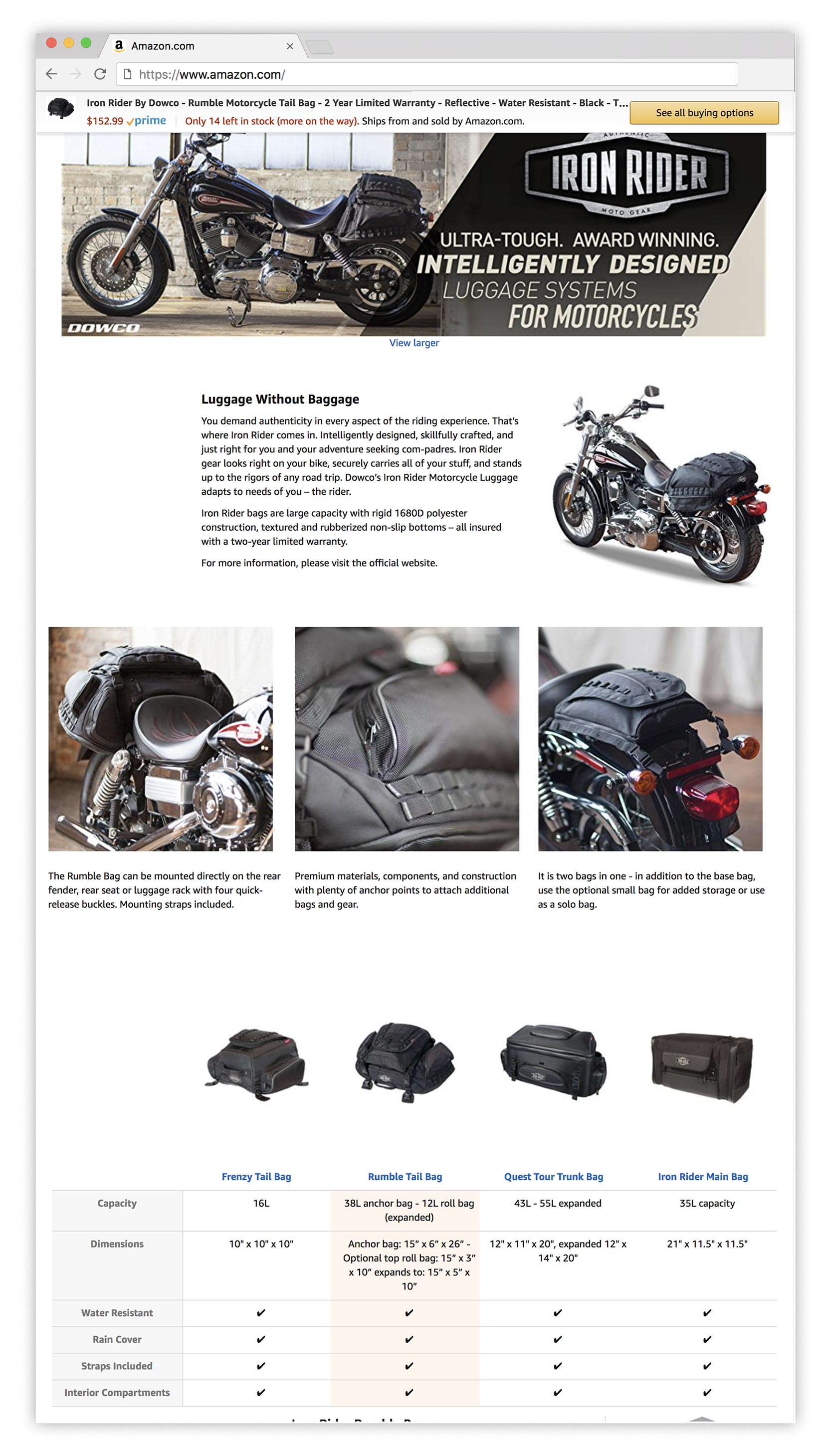 Iron Rider Amazon A+